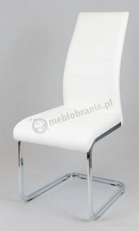 Krzesło białe z ekoskóry KS031