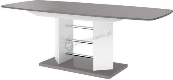 Linosa 3 stylowy stół rozsuwany wysoki połysk szary