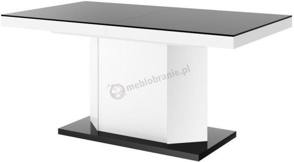 Amigo stół z szafką do kuchni czarny wysoki połysk