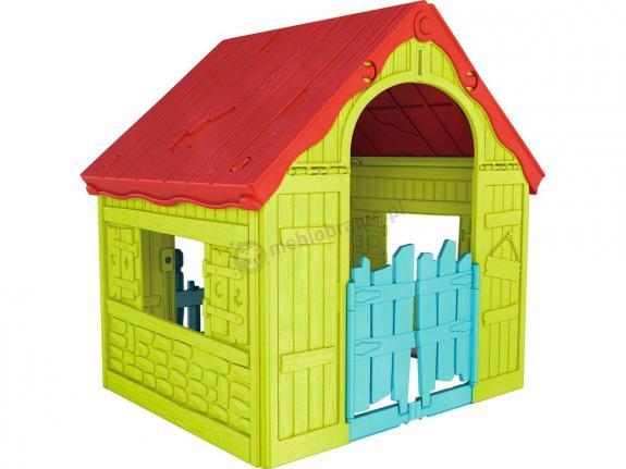 Keter Foldable Playhouse - składany domek dla dzieci jasno zielony