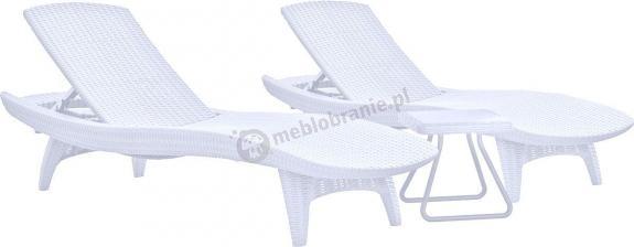 Zestaw leżaków ogrodowych Keter Pacific Set + stolik Biały