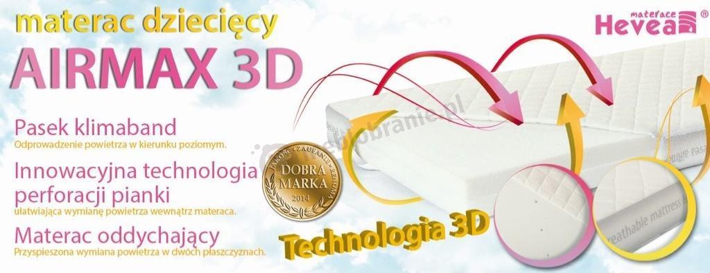 Właściwości materaca Hevea Airmax 3D