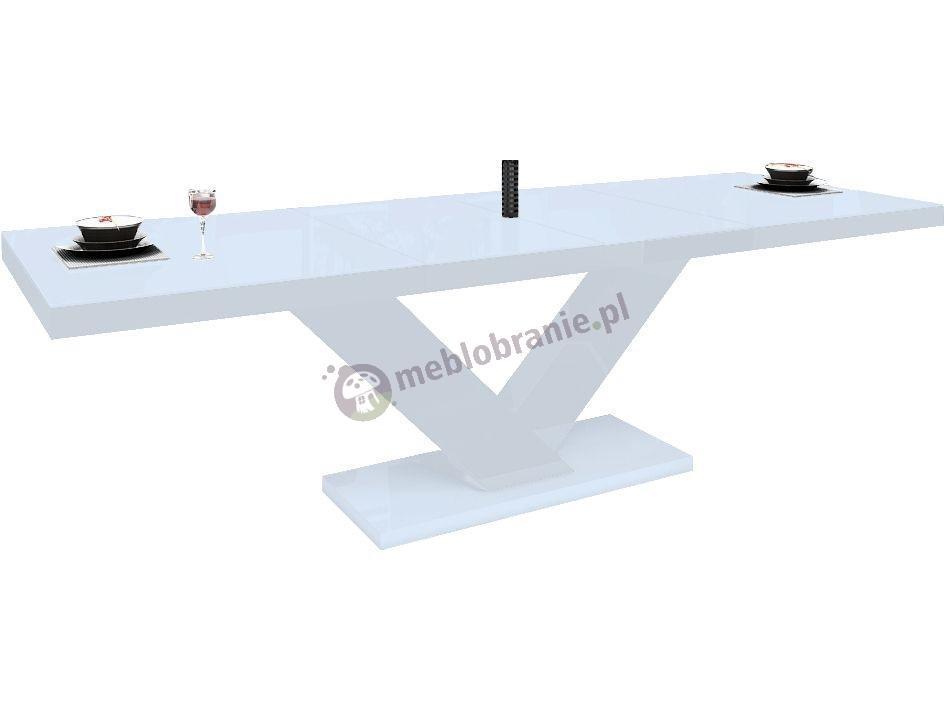 Stół Victoria wysoki połysk - biały