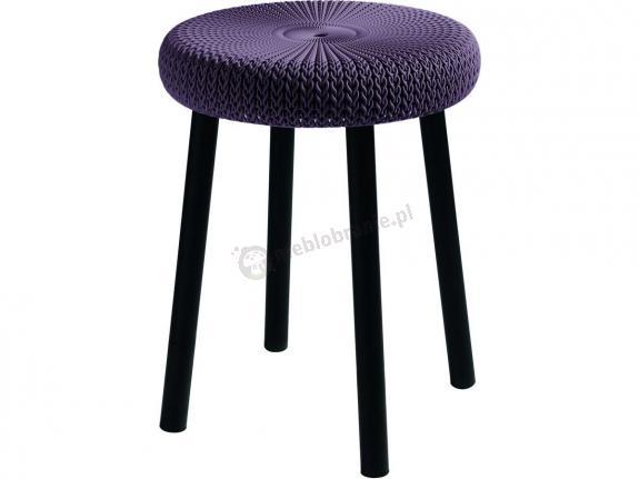 Krzesełko ogrodowe Keter Cozy Stool purpurowe