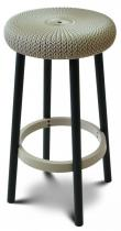 Hoker Barowy Knit Keter Cozy Bar Stool piaskowy
