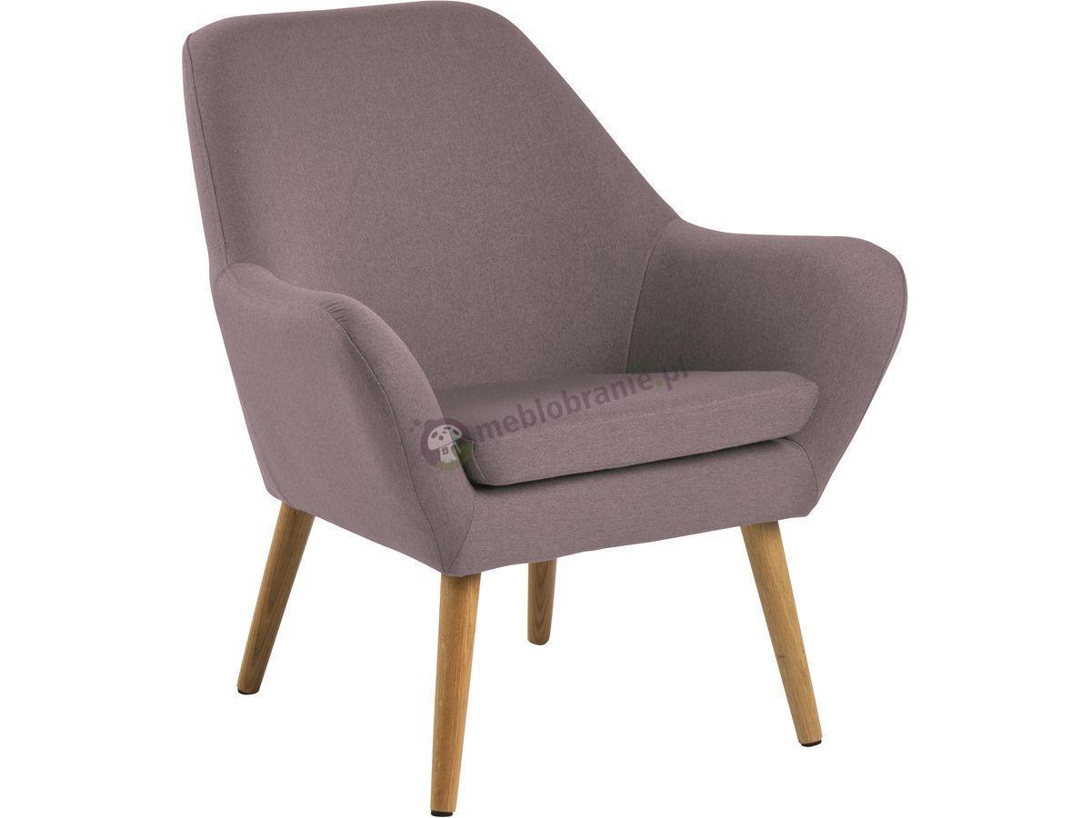 Actona Astro wygodny fotel tapicerowany brudny róż