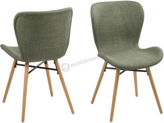 Actona Batilda zielone krzesło w stylu skandynawskim