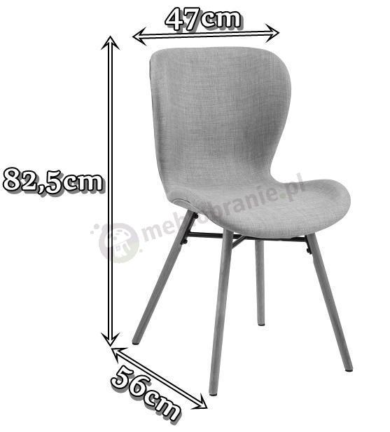 Skandynawskie krzesło Batilda wymiary