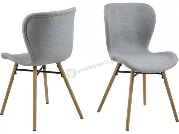 Actona Batilda krzesło tapicerowane jadalnia szare