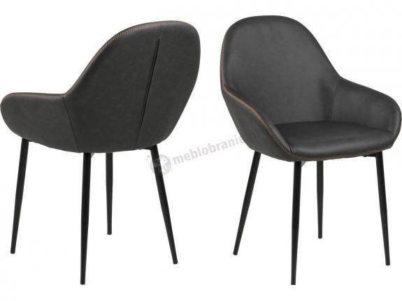 Actona Candis krzesło muszelka z eko-skóry