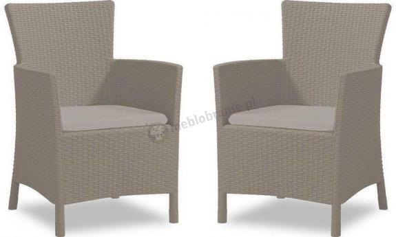 2x Fotel Rattan Style Iowa - cappuccino