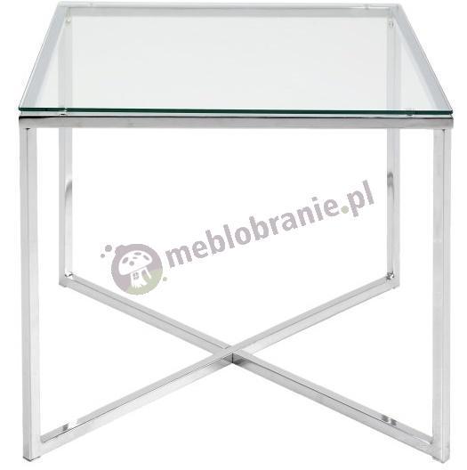 Actona Cross II stolik kawowy kwadratowy transparentny