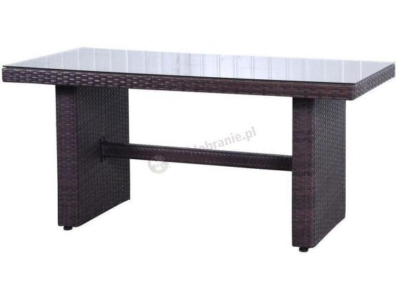 WYPRZEDAŻ - Stół obiadowy technorattan 140x70 Nilamito Brown