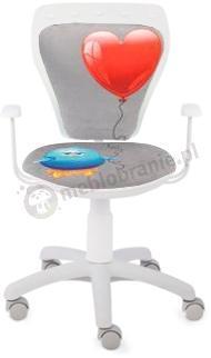 Fotel Ministyle Cartoons GTP TS22 Serce i Kurczak krzesło biurowe dla dzieci