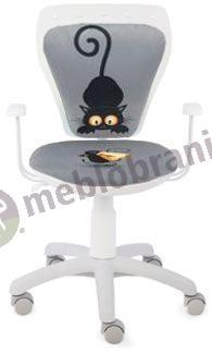 Fotel Ministyle White Cartoons Line GTP TS22 Kot i Mysz krzesło dla dzieci
