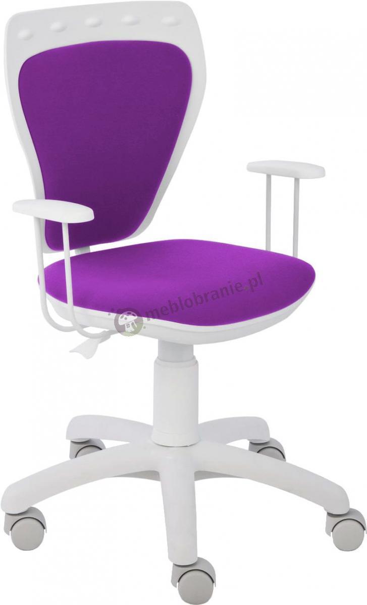 Fotel Ministyle Line White GTP TS22 M25 krzesło obrotowe dziecięce