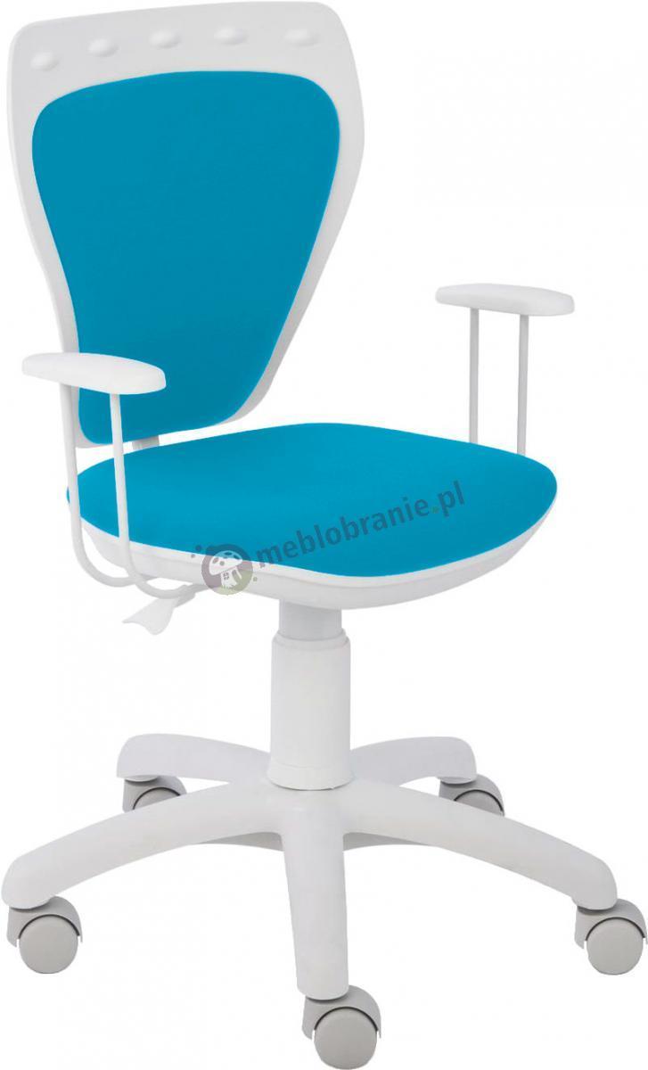 Krzesło Ministyle Line White GTP TS22 M31 fotel obrotowy dziecięcy