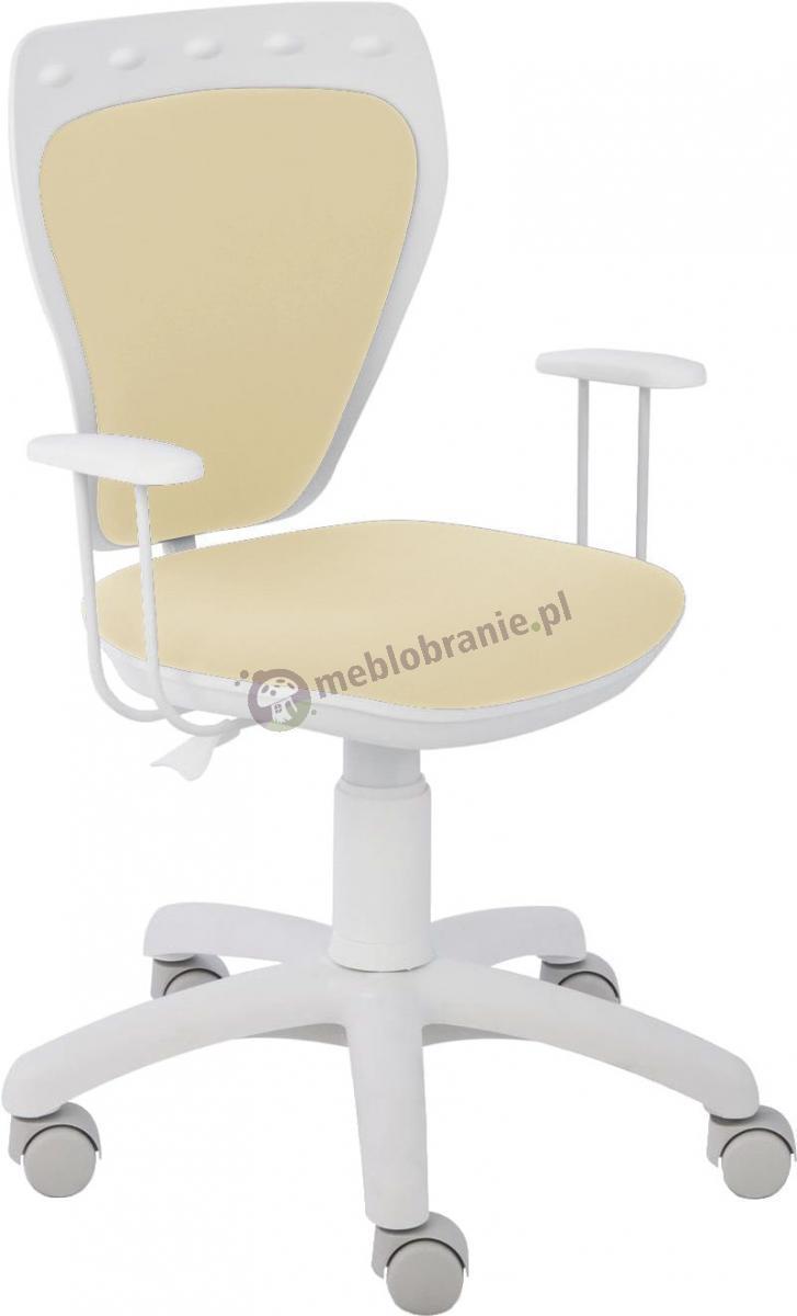 Krzesło Ministyle Line White GTP TS22 M56 dziecięcy fotel obrotowy