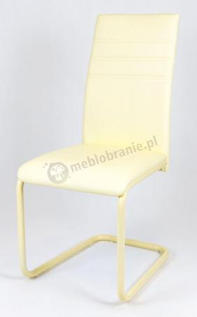 Krzesło z ekoskóry malowany stelaż KS024