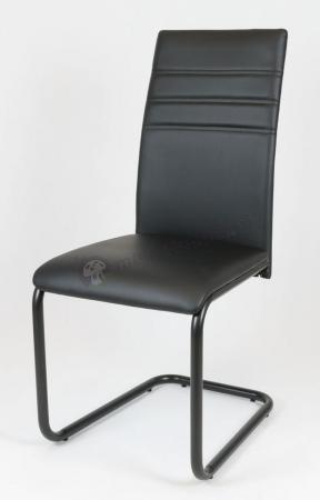 Krzesło tapicerowane czarne KS024
