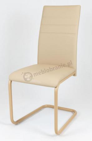Krzesło z ekoskóry beżowe KS024