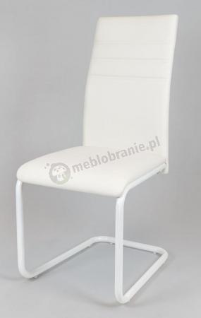 Krzesło tapicerowane białe KS024