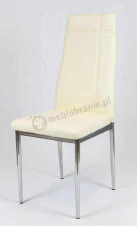 Krzesło tapicerowane kremowe KS023