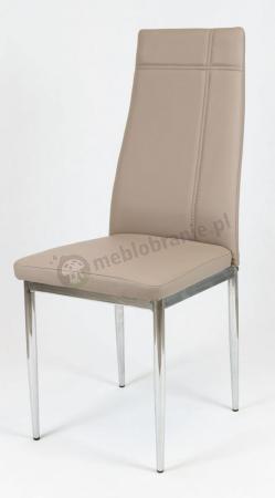 Krzesło beżowe z ekoskóry KS023