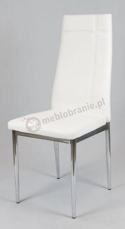 Krzesło tapicerowane białe KS023