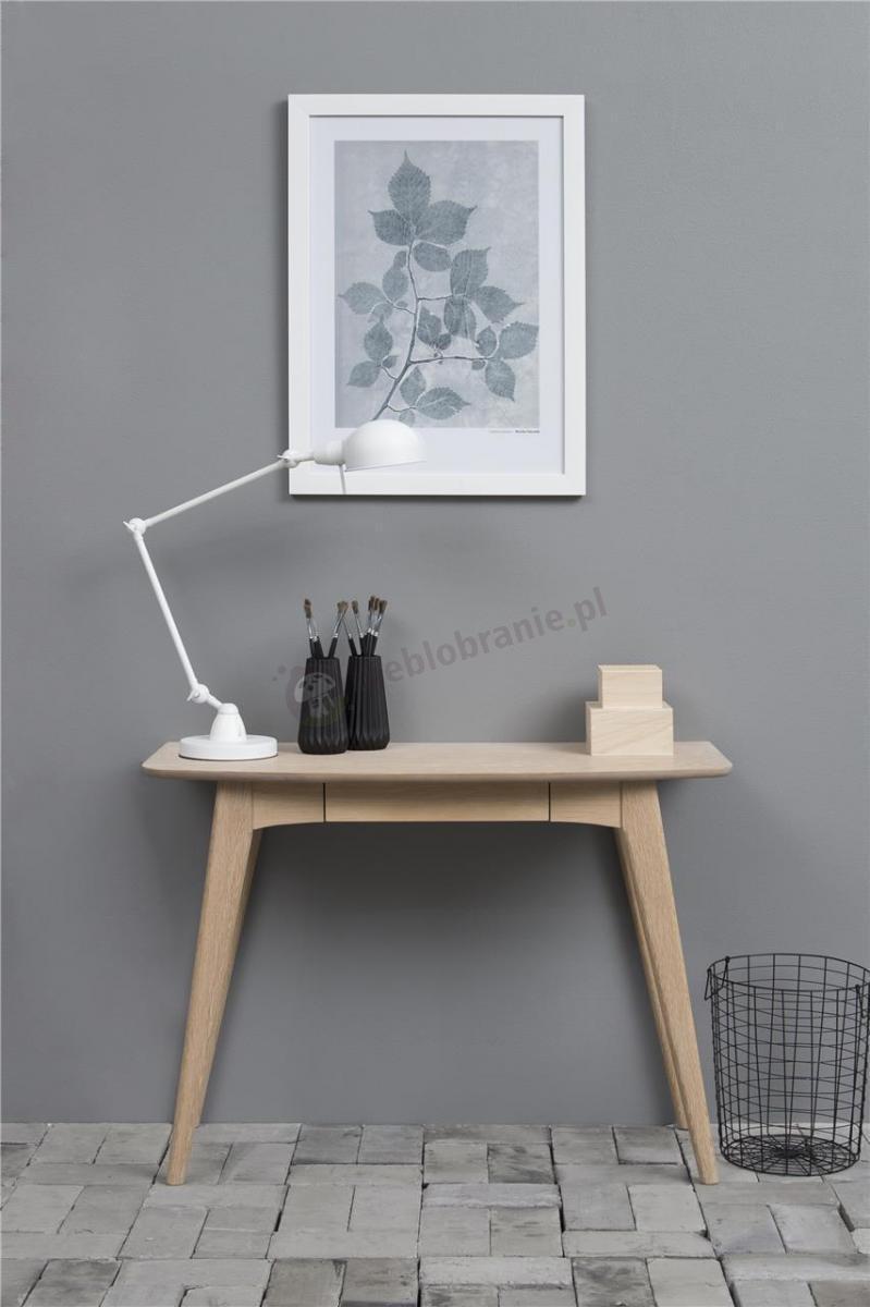 Actona Woodstock drewniane biurko z szufladą- nowoczesna aranżacja
