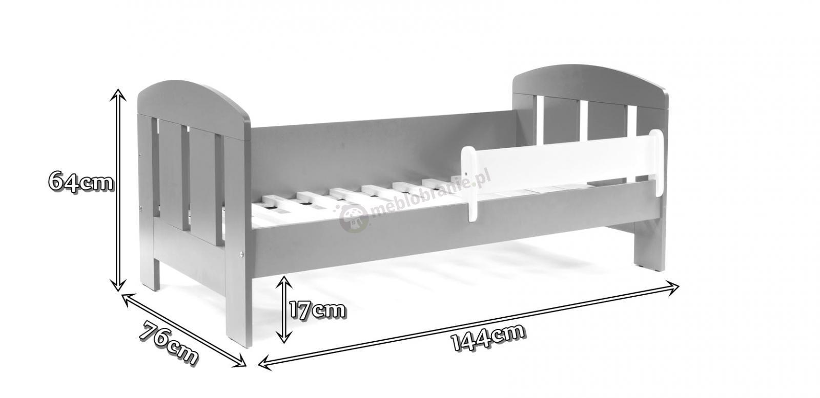 Łóżko Flores 140x70cm wymiary