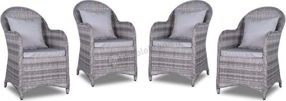 Altito Quattro - Cztery fotele technorattan Dim Grey & Taupe