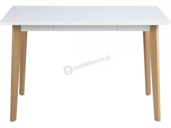Actona Raven Desk białe biurko z drewnianymi nogami