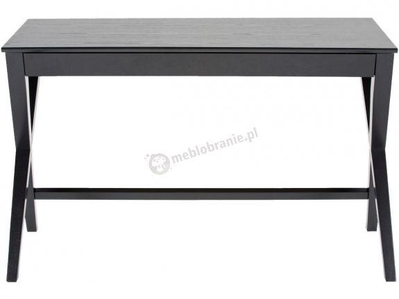 Actona Writex biurko ze skrzyżowanymi nogami czarne