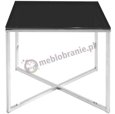 Actona Cross II stolik kawowy czarne szkło