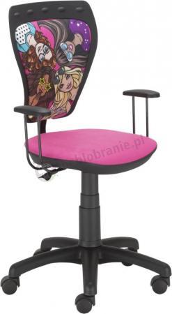 Krzesło dziecięce z Barbie Ministyle Black TS22 GTP Barbie Przyjaciółki