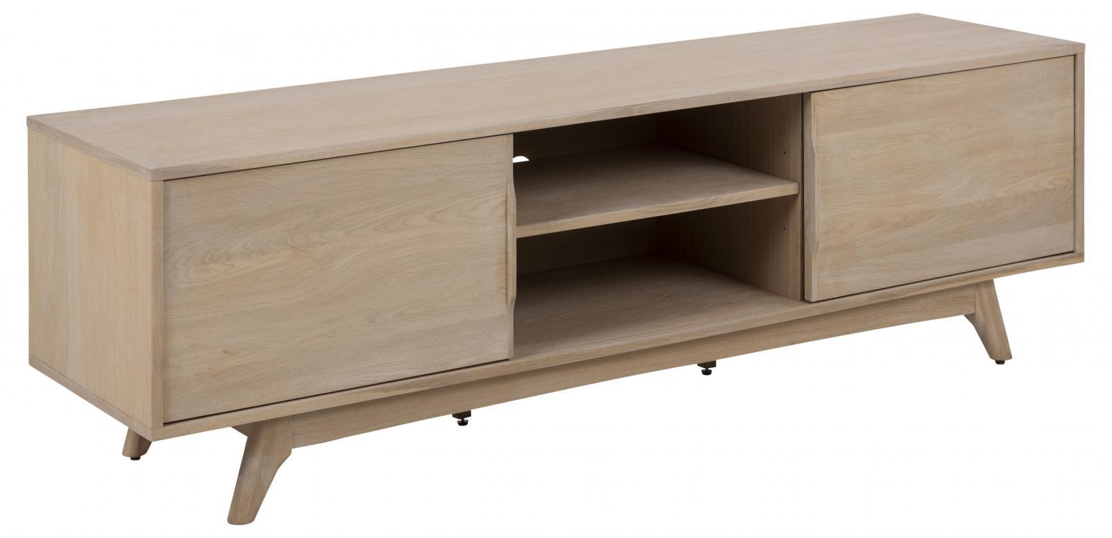 Drewniana szafka RTV 180 cm w stylu skandynawskim