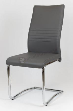 Ciemnoszare krzesło tapicerowane KS020