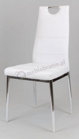 Białe krzesło tapicerowane KS017