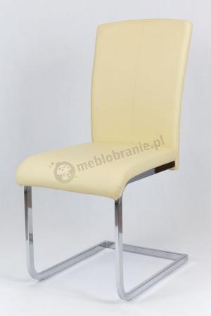 Krzesło kremowe ekoskóra KS014