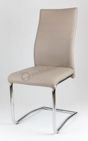 Beżowe krzesło z ekoskóry KS013