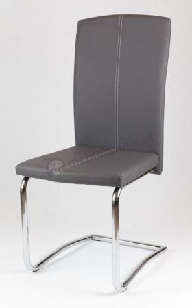Krzesło biurowe szare tapicerowane ekoskórą KS012