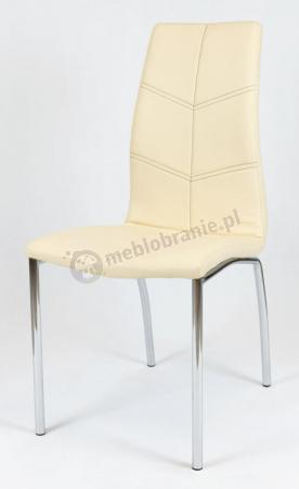 Krzesło konferencyjne z ekoskóry KS010 Kremowe