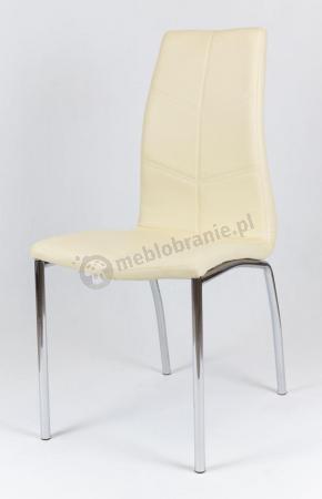 Krzesło tapicerowane KS010 kremowe jasne