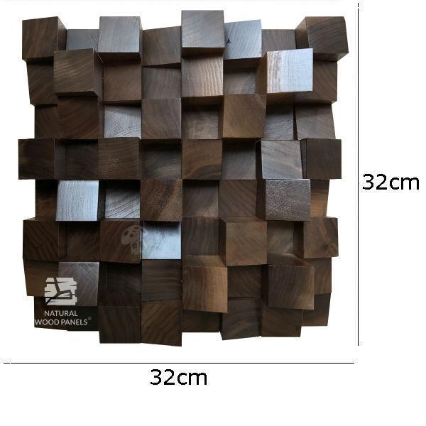 Dyfuzor Panel AKUSTYCZNY Orzech Amerykański 32x32cm wymiary