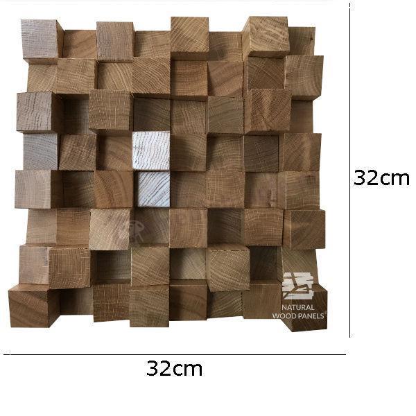 Dyfuzor Panel AKUSTYCZNY Dąb 32x32cm wymiary