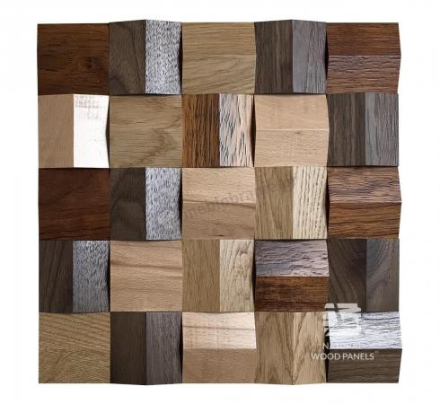 Crystal series - MIX *085 - Natural Wood Panels