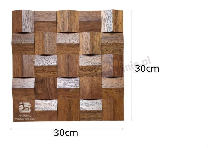 Natural Wood Panels Crystal series Merbau 084 - wymiary
