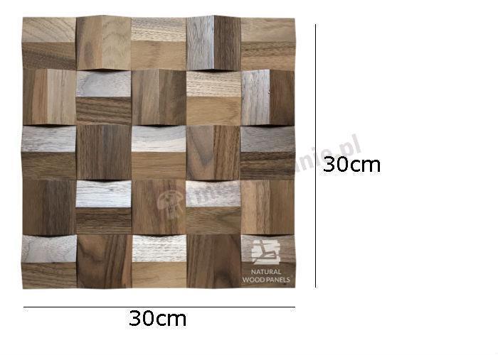 Natural Wood Panels Crystal series Orzech Amerykański 083 - wymiary