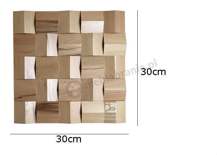 Natural Wood Panels Crystal series Buk 082 - wymiary